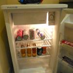 Fridge (is also the minibar) in the Studio