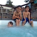 family friendly atmosphere. hot tub area