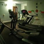 The fitness center. Actually quite dark.