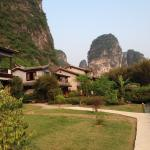 The retreat is hugged by karst mountains!