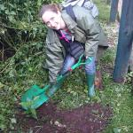 Planting a tree in memory of my dad who's dream was to come with me on safari to Kenya but who s