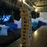 A good game of Jenga at the lounge area by the restaurant