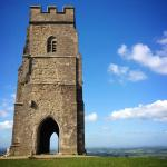 Glastonbury Tor 3/4 mile from the campsite