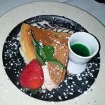 Mint Cheese Cake with Creme de menthe