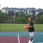 shooting hoops out back