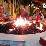 Great way to meet new friends across the fire pit table!