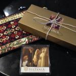 Beautiful leaving gift upon checking out- fridge magnet, purse, turkish delights