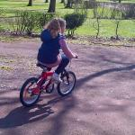 Learning to ride a bike!