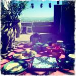 Breakfast on the rooftop! Amazing views of Fes.