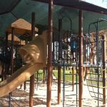Shaded playground for the kids