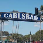 Carlsbad sign right outside