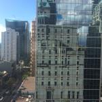 Reflection of the Fairmont Hotel Vancouver