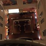 Looking down from 5th floor to lobby