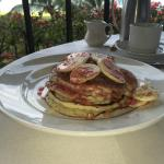 Mmmmmmmm macadamia nut pancakes with locally grown fruit fro room service