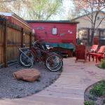 bikes to use and a hot tub