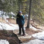 Snow Shoeing - not much snow left