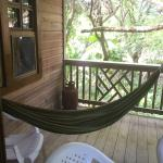 hammock with semi private deck.  There was another room next door.  We hardly saw our neighbors.
