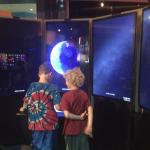 These boys loved the Explore Your Earth by Google Earth exhibit. They could have spent hours pla