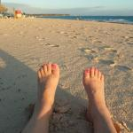Relaxing my tootsies on the beach