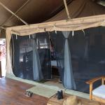 Our room - a tent on a platform.