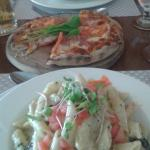 Lovely lunch in Patois, 2 pasta dishes and a pizza to share