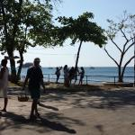 Playa Coco- gorgeous black sand beach, souvenirs, and restaurants
