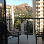 walked in to the view of Diamond Head, and a partial ocean view from the balcony