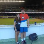 Me and my boyfriend before Marlins vs. Rays