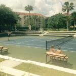 tennis courts by the pool