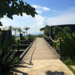 The walkway from the grounds to the Komune Beach club