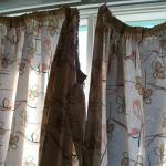 Curtains with some issues.