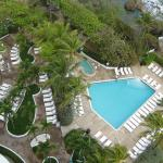 View Down at Hot Tub and Salt Water Pool