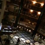 The view from our floor down into the lobby!