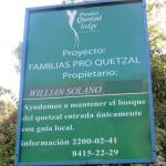 Quetal partnership with local families