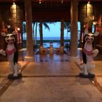 The main entrance is quaint and personal, as if you were arriving at a private luxury ocean fron