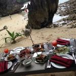 Our perfect lunch at a private cove.