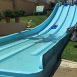 Water slide that is open 3x a day 1 hour each time
