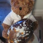 Zoe Claire, Coworth Bear, with Easter Egg
