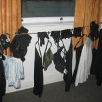 ad-libbed clothesline for our ski gear