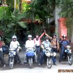 Farewell Siem Reap thank you for a wonderful time from the Vespa Club of Melbourne riders.