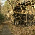 Abandoned Coal Mining Structure, Hawks Nest Rail Trail, Ansted, West Virginia
