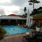 VIEW OF AND AROUND LE RELAX HOTEL AND RESTAURANT IN MAHE, APRIL 2015.