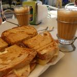 Toasted Sandwich and coffee. what  a deal