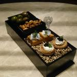 Nibbles and canapes with drinks