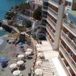 Looking down to the beach from the Balcon
