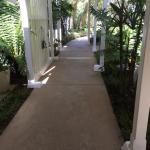 This was the walkway from our room towards the front desk.
