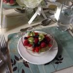 Wonderful fruit salad, almost too good to eat!
