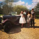 Hitching a ride in Philip's vintage car