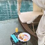 Breakfast and Lunch at the Pool