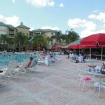 Pool area and the Cabana Bar and Grill. Great food, reasonably priced!